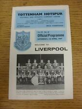 01/04/1967 Tottenham Hotspur V Liverpool. objet en très bon état, sauf si