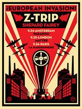 EUROPEAN INVASION s/n 350 SHEPARD FAIREY obey giant Z-TRIP