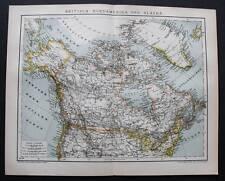 1893.Geographical Map.NORD AMERICA-ALASKA-GROENLANDIA..