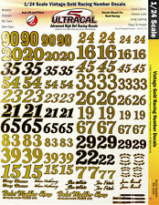 MG3423 - 1/24 High Def Racing Decals Vintage Gold Racing Numbers