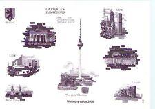 BLOC FEUILLET NON DENTELE SUR BRISTOL - MONOCHROME - BERLIN 2006 CAPITALE EUROPE
