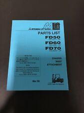 MITSUBISHI FORKLIFT TRUCKS FD50 FD60 FD70 PARTS LIST 98701-96930
