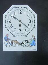 Altes Emailschild Uhrenschild Ziffernblatt Jugendstil Entwurf C. Liebig