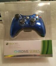 XBOX 360 Controller BLUE CHROME Series Wireless Microsoft Sealed Special Edition