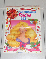 Calendario BARBIE 1993 Mattel Toys Calendar Doll bambola