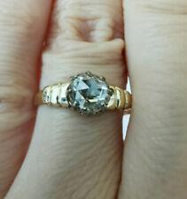 Antique Victorian ring natural Diamond 0.7 ct rose cut  gold 14k