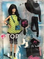 2007 BARBIE TOP MODEL TERESA NRFB! M3232 Gorgeous  Long dark Hair, Brown Eyes