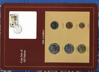Coin Sets of All Nations Gambia 1971 - 1987 UNC 1 Dalasi 1987