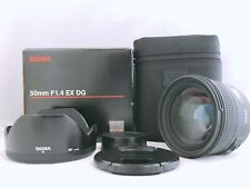 🟢MINT in Box🟢Sigma 50mm f/1.4 EX DG HSM Lens for Nikon F Mount from Japan 707