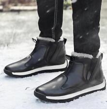 US7-13 Plus Size Mens Winter Velvet Warm Ankle Boots High Top Pu Snow Shoes Sbox