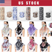 Clearance Face Mask Neck Gaiter Bandana Scarf With Loops Ear Reusable Washable