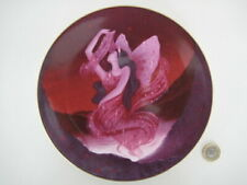 ROYAL WORCESTER RUBY FLOWER FAIRY PLATE COMPTON & WOODHOUSE 1990 STYLISH DESIGN