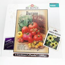 Burpee Tomato Hall of Fame Jigsaw Puzzle 1000 Pieces Buffalo Games BRAND NEW!