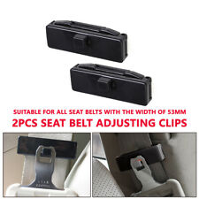 2PCS/Set Car Seat Belt Adjusting Tension Clips Black ABS 53mm Fasten Buckle Kits