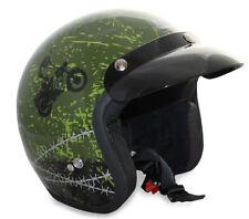 Caschi verde con visiera parasole per la guida di veicoli