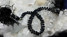 Genuine Black Diamond Graduating Faceted Drop Beads 6 Inch Strand. 32 Carats