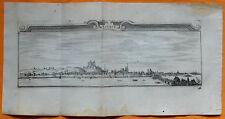 VAN DER AA Gravure originale c1725 VUE DE SAUMUR Anjou Maine-et-Loire Château