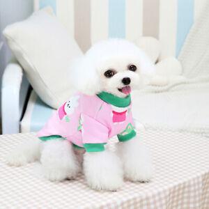 Cute Cartoon Pet Dog Sweater Shirt Clothes Cherry Puppy Cat Coat T-shirt Outfits