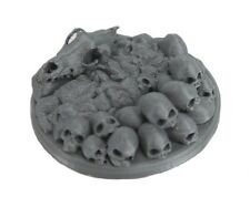 45mm Skull and Bones Display Base 3D Printed Miniature D&D Barbarian Creature