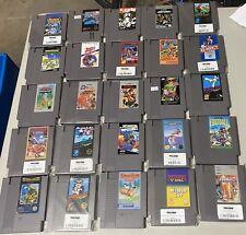 Original NES Nintendo Cartridge Game Lot Of 25 ,Kung Fu, Donkey Kong, Gotcha,