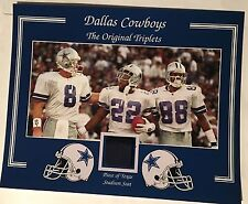 ORIGINAL TRIPLETS AIKMAN SMITH IRVIN DALLAS COWBOYS TEXAS STADIUM SEAT 8 X 10