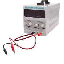 30V 5A Precision Variable Adjustable Digital DC Power Supply W/ Clip Cable 110V