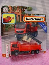 MAN TGS FLATBED CARGO HAULER red; melton 2019 Matchbox Working Rigs