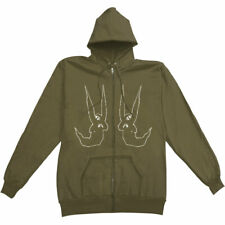 My Chemical Romance Men's  Skangles Zippered Hooded Sweatshirt Green