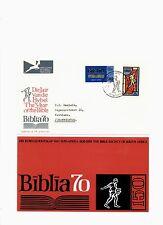 Südwestafrika,Mi.nrn. 358-359,Satz auf FDC 1970,Jahr der Bibel 1970!