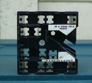 GENUINE FORD COUGAR / MUSTANG N.O.S. FUSE BLOCK IN UNUSED CONDITION ~ 1970's
