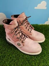 Timberland Roll Top Pink Boots Size 6