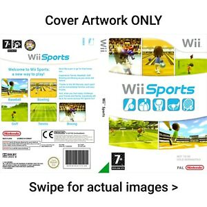 Nintendo Wii Sports - Reproduction Box Cover Art Insert Print Only NO Game - PAL