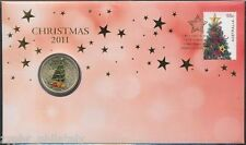 "Australia - ""CHRISTMAS TREE ~ CHRISTMAS 2011"" Coin Cover / PNC  !"