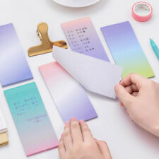 2 pcs Rectangle Cute Sticky Note Paper Gradient Color Kawaii Office Supplies