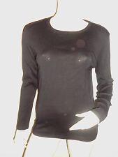 LEGE POLE SWEAT T-SHIRT MANCHE LONGUE FEMME H&M NOIR COL ROND T:S