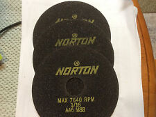 "Norton 6"" X 1/16"" Cut Off Wheels, A46 M8B, 3 Pieces"