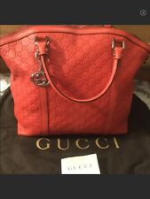 Red GUCCI Guccissima Leather Large Tote Bag