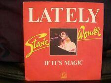 VINYL 45 T – SOUL FUNK – STEVIE WONDER – LATELY + IF IT'S MAGIC - MOTOWN FR 1976