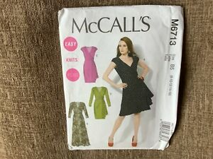 sewing pattern ladies drape wrap dress sizes 8-16 uncut mccalls 6713
