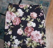Oasis Size 12 Ladies Knee Floral Elastic Waist Skirt