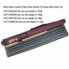 Aventik 10'0''LW3/5/7/9 IM12 Nano Carbon Rod Fiber Short Switch Fly Fishing Rod
