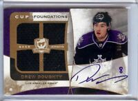 Drew Doughty 2008-09 UD The Cup Foundations Gold Quad Jersey Auto Kings #DD 3/10