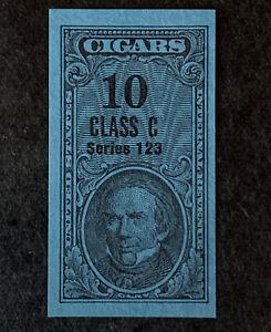R1/6 US Revenue Stamp Cigar 1953 Series 123 Class C 10 MNHNGAI Incredible Center
