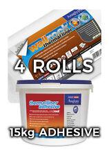 Wallrock 4 Rotoli Termici Liner & 15 kg fodera termica Adesivo