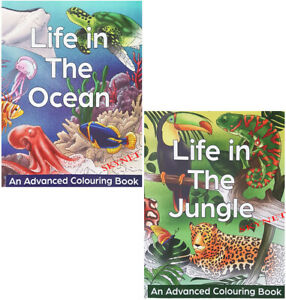 Anti-Stress Colouring Books For Adults Teens Life In The Jungle - Ocean All Ages