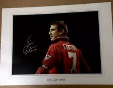 Giant Manchester United Signed Eric Cantona Poster  SUPERB ITEM £99
