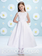 3b07fdbfd93 NEW Girl s Joan Calabrese White First COMMUNION Dress Size 8 BEADED TOP  116392
