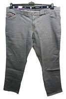 Neuf Taille Courte Superbe Homme Jeans Stretch Pantalon Bande Élastique Gris