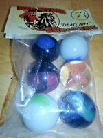 """NEW Vintage SET Marbles Glass Colors Swirls Red Ryder Shooters. """"Dead Aim"""" Fred"""