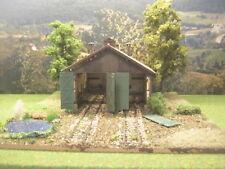 Lost Places: Lokschuppen Diorama Landschaftsbau Modelleisenbahn H0 1:87